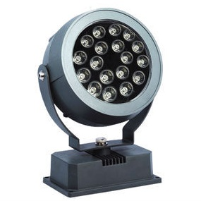 18W-LED-round-head-square-base-Projection-Landscape-Flood-spot-advertising-stage-lawn-outdoor-light-DC12Vor24V
